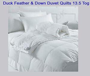 Duck Feather Amp Down Duvet Quilts 13 5 Tog Single Double
