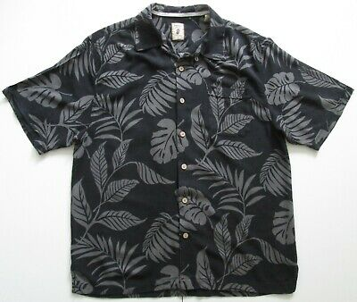 "Vintage Auth Jamaica Jaxx 100% Silk Hawaiian Shirt 47""-119.5cm L 162H"
