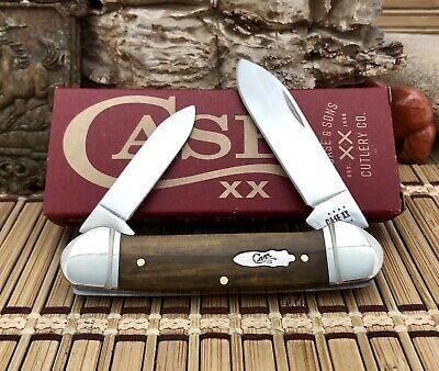 Case XX USA 2021 Smooth ANTIQUE Bone Stainless Steel Canoe Pocket Knife
