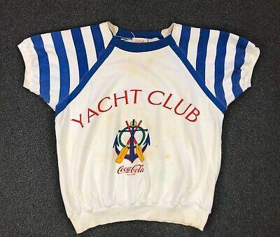 Vintage Coca Cola Yacht Club Sweatshirt Size Large 80s Crewneck