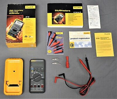 Fluke 87-3 True Rms Multimeter Analog Digital 87 Lll Handheld Excellent In Box