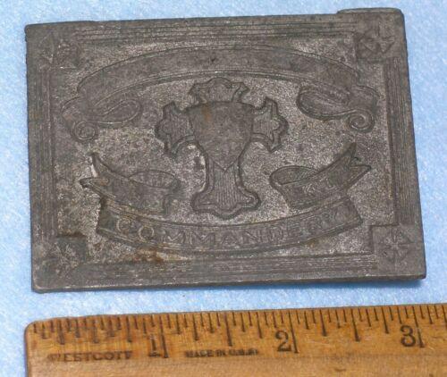 AMES FOUNDRY PATTERN 19thC KNIGHTS TEMPLAR COMMANDERY SWORD BELT PLATE Buckle