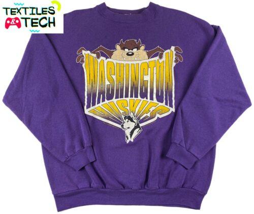 Vintage Washington Huskies Looney Tunes Taz Sweatshirt 90
