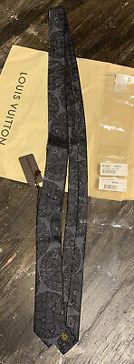 Louis Vuitton Tie Rope Gray Black Christopher Nemeth M70487 Sold out Italy EUC