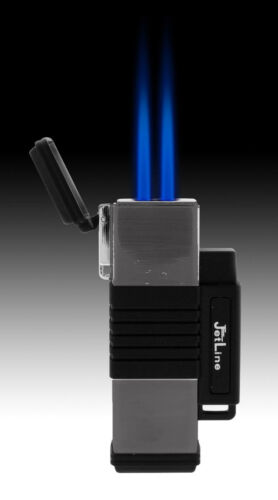 2pcs JetLine New York Double Torch Lighter- Black Gunmetal