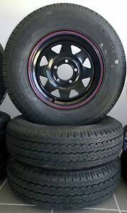 """NEW 14"""" Black Sunraysia Wheel & tyre. Clontarf Redcliffe Area Preview"""