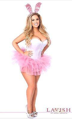 Sexy Lavish Innocent Bunny Playboy Playmate Corset Costume Reg/Plus Size Avail   - Playboy Bunny Costume Plus Size