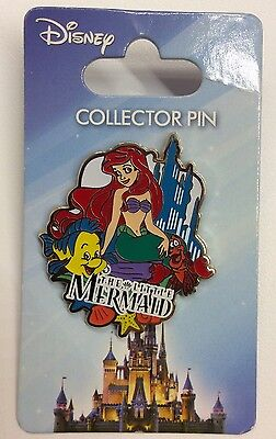 Disney Pin Jerry Leigh The Little Mermaid Ariel And Flounder Sebastian Pin New