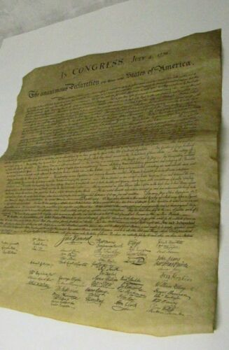 In Congress July 4,1776 The Unanimous Declaration Of The 13 Units S. Of America