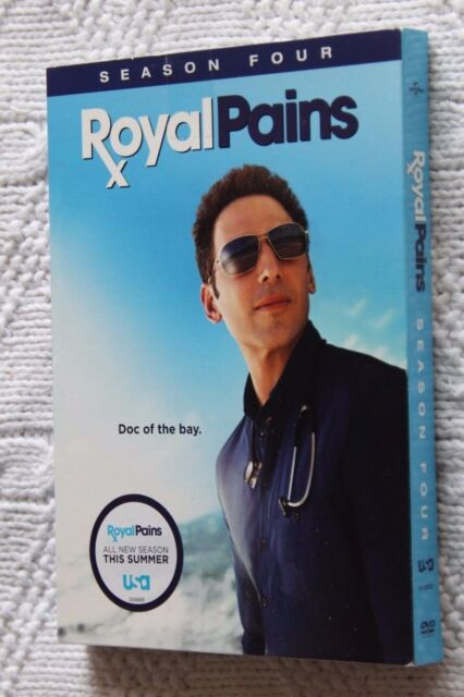 ROYAL PAINS: SEASON FOUR (DVD, 4 DISC SET) REGION-1, NEW, FREE SHIPPING AUS-WIDE