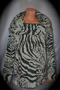 $128 Victorias Secret Moda International Zebra cowl Neck Sweater Multi Way NWT S