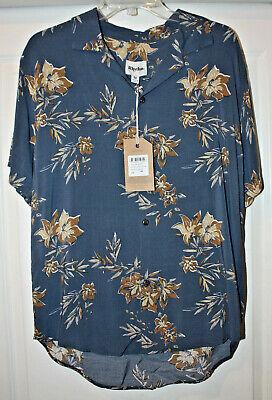 Katin Men's Vintage Aloha Short Sleeve Button Down Shirt, Pacific -