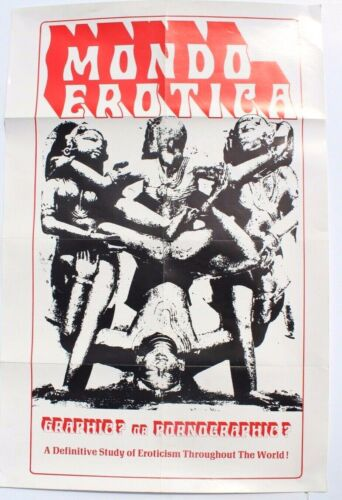 Vintage Mondo Erotica (Erotic World) Sexpolitation Graphic Pornograpic Poster