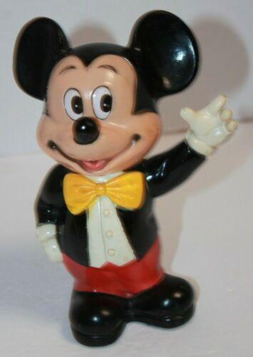 Vintage Walt Disney Productions Vinyl Mickey Mouse Bank