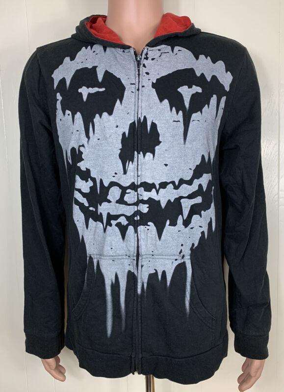 The Misfits Fiend Ghoul Skull Logo Full Zip Hoodie Jacket - Black - XL Official