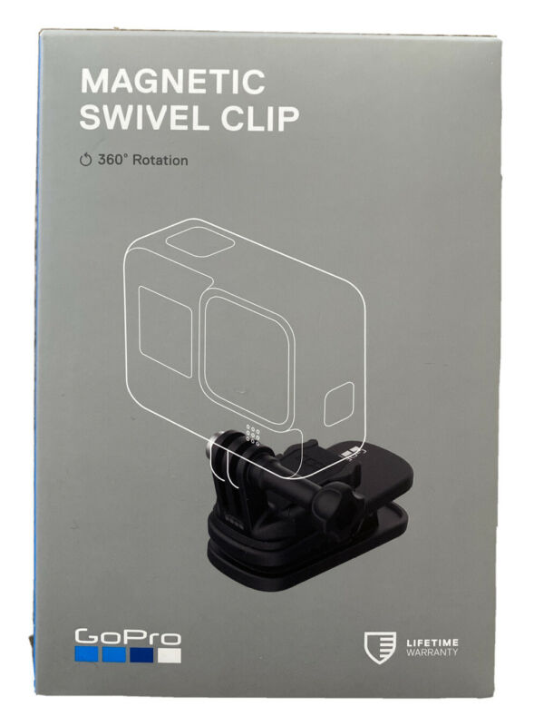 GoPro Magnetic Swivel Clip ATCLP-001 /360' Rotation
