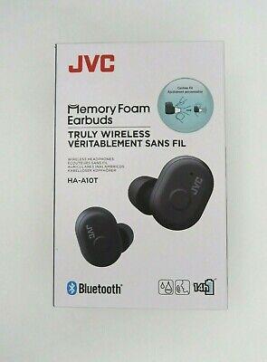 JVC Memory Foam Earbuds Truly Wireless Headphones Bluetooth Black HA-A10T New