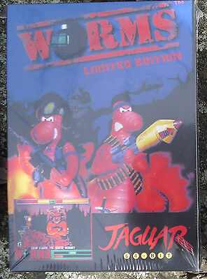 Worms Atari Jaguar Cart New In the Box! NIB By Telegames