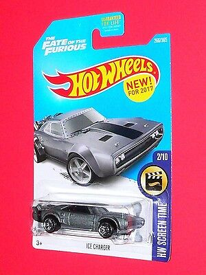 2017 Hot Wheels ICE CHARGER  #266 Screen Time DTW96-D9B1M Fate of the Furious