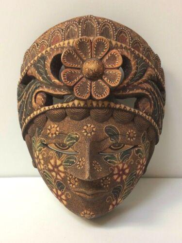 BALI BATIK MASK, Hand-Carved Wood - Detailed, Ornate Hand-painted - NICE!