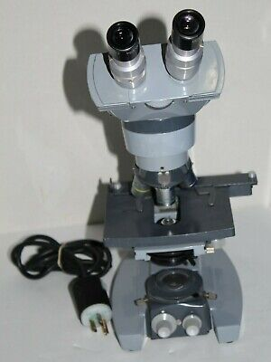 Ao Spencer Microscope W 3 Objectives-41045 American Optical Good Condition
