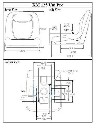 Fits Kubota Bx1870 Bx2670 Series Tractor Seat Km 125 Uni Pro Bucket Seat Kit