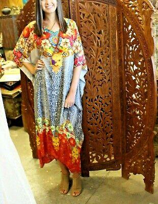 Bohemian CAFTAN Printed Womens BOHO HIPPY Kaftan Beach MAXI Dresses Caftans 2XL