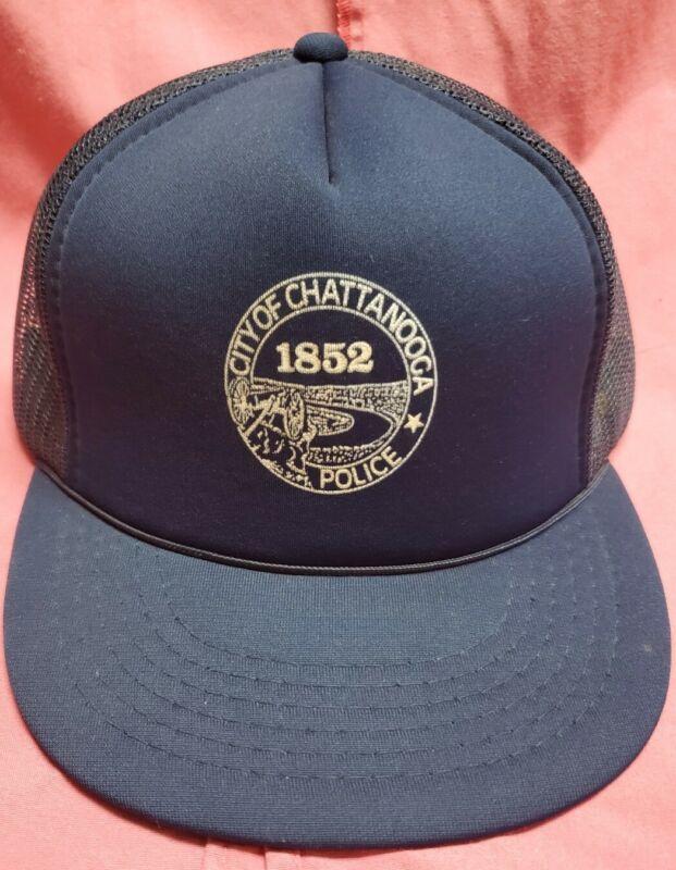 City of Chattanooga Police 1852 Cap mesh back trucker snapback blue free ship