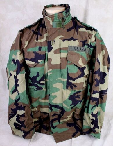 GENUINE US ARMY MILITARY ISSUE M65 FIELD JACKET COAT WOODLAND CAMO - USA MADE