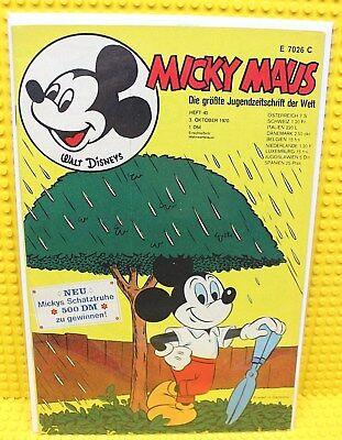 Walt Disney® Micky Maus Nr 40 von 1970 mit Gutschein und Sammelbild