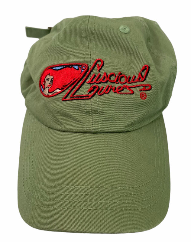Luscious Lures Helena Montana MT Fishing Baseball Hat Cap Green Gift Idea