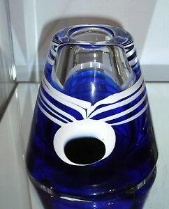AMAZING-BERANEK-CZECH-ART-GLASS-MODERNIST-PEACOCK-FEATHER-VASE