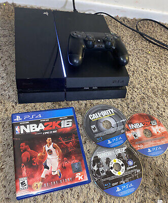 Sony PlayStation 4 PS4 CUH-1115A 500GB  Console Jet Black + Games Tested
