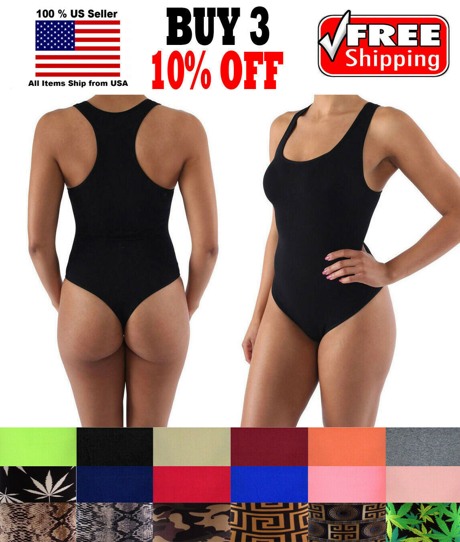 Women Slim Seamless Spandex Bodysuit Shapewear Underwear Leotard Bodycon Thong Clothing, Shoes & Accessories