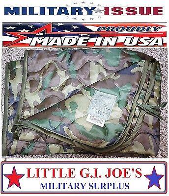NEW Military Issue Army & USMC Woodland Camouflage Poncho Liner Woobie Blanket