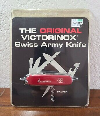 Vintage Sealed Victorinox Swiss Army Knife Camper Camping Red - Brand New Rare!