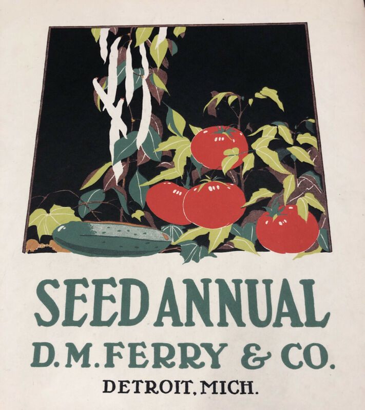 Ferry Seed Annual Farm Agricultural Cover Design Graphic Art 1923 Poster