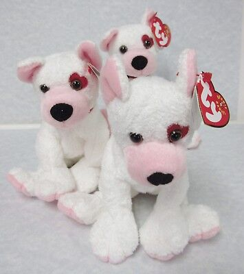 Ty Beanie Baby Cupid Dog LEFT Eye Heart Patch PRISTINE CLEAN-NEW, *NON-MINT TAGS