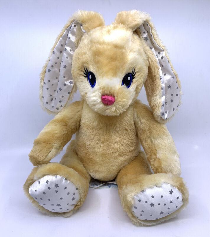 "Build A Bear Bunny Rabbit Jointed More Moves Tan Plush Stuffed Animal Stars 17"""