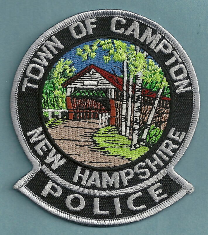 CAMPTON NEW HAMPSHIRE POLICE SHOULDER PATCH COVERED BRIDGE!