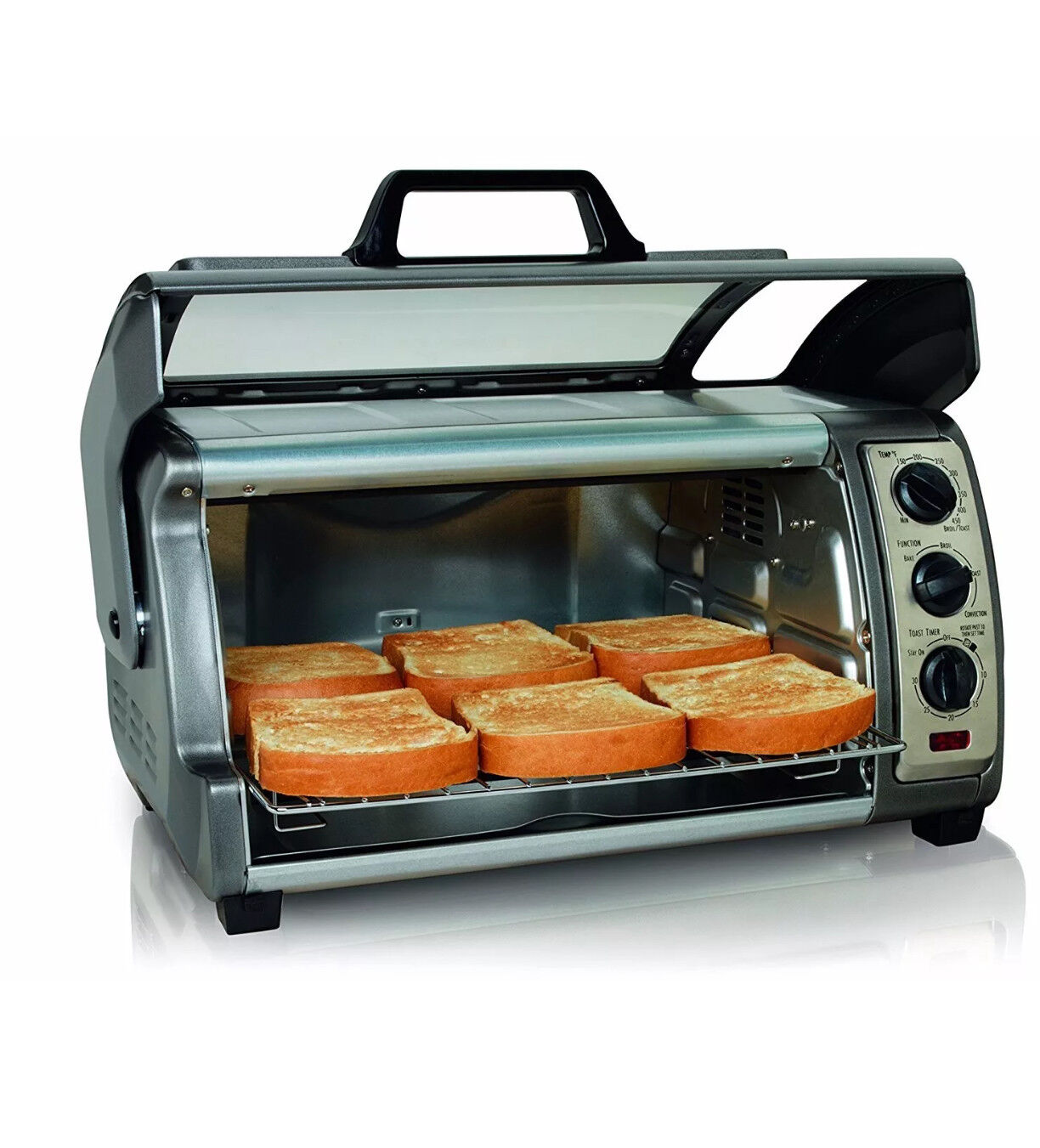 Hamilton Beach Countertop Toaster Oven Easy Reach with Roll-