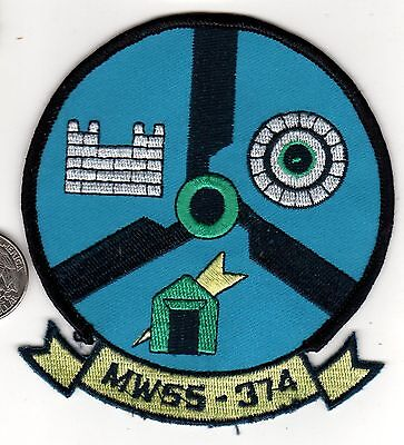 Marine Wing Support Squadron MWSS - 374  USMC Patch