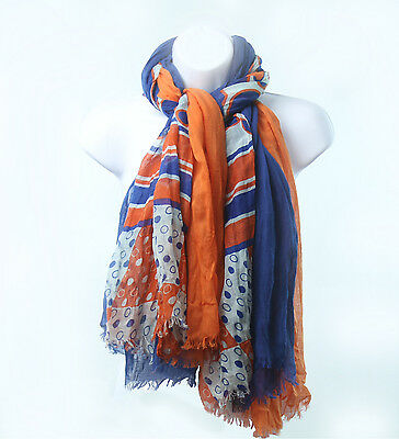 Layer Scarf - Gators Scarf Triple Layer Orange and Blue