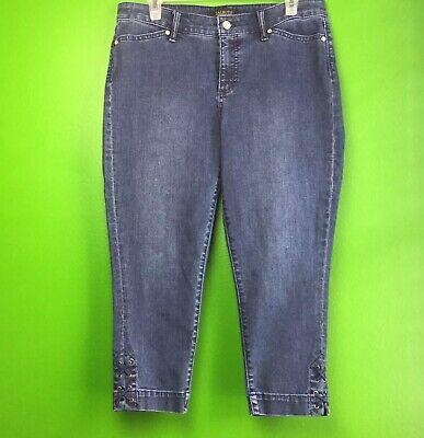Talbots Flawless Five-Pocket Jeans Women's Sz 10P Slim Ankle Cropped Capri Jeans Cropped Five Pocket Jeans