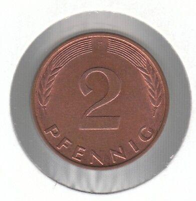Germany - Federal Republic 2 Pfennig 1981 F Copper Plated Steel Coin