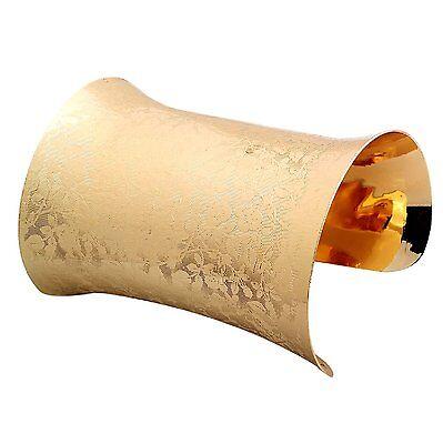 Armreif Metall Armspange 9,5 cm breit Armband GOLD-farbig Armreifen NEU BG73