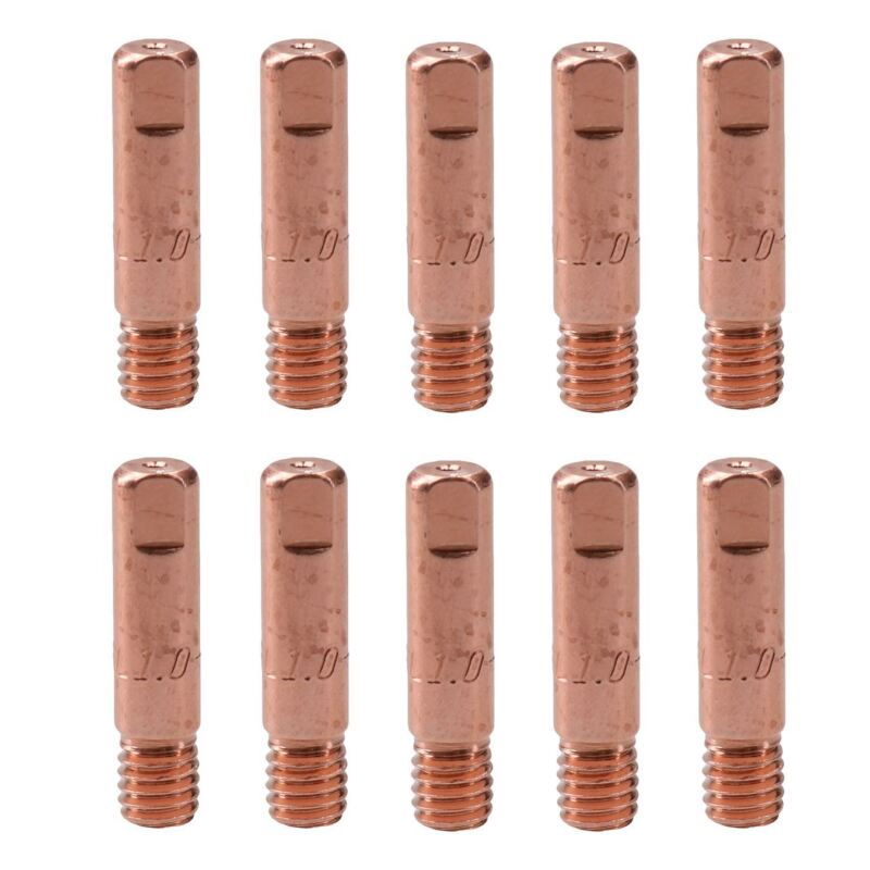1.0mm 1mm Mig Welding Welder Round Contact Tips for MB15 Euro Torches 10pk