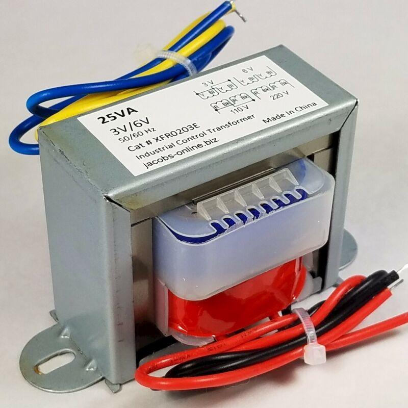 Transformer, 3 volt, 6 volt, 25VA, foam cutting, electronics
