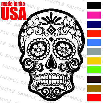 Day Of The Dead Dia De Los Muertos Sugar Skull Cool Decal Car Window - Day Of The Dead Stickers