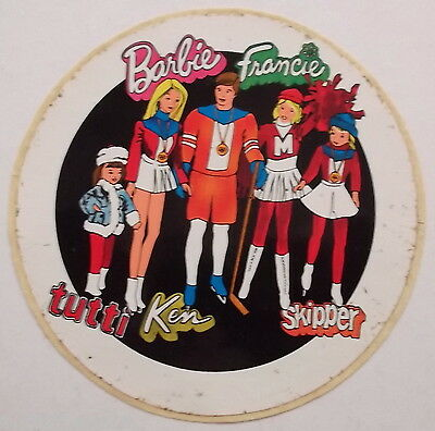Aufkleber BARBIE FAMILY Ken Francie tutti Skipper Sticker Autocollant 70er Decal